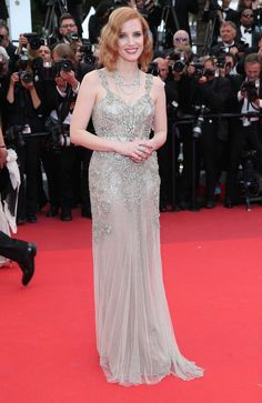 Cannes 2016: Red Carpet Picks | Jessica Chastain in Alexander McQueen with Piaget jewels | http://brideandbreakfast.hk/2016/05/24/cannes-2016-red-carpet-picks/