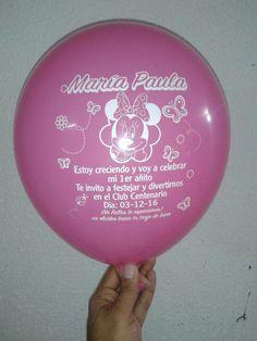 Globos Estampados con invitación.  #globos #servilletas #estampados #tarjeteria #invitaciones #bodas #15años #bautizo #cumpleaños #eventos #servilletas