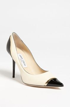 Channel Coco Chanel in these ladylike Jimmy Choo pumps.