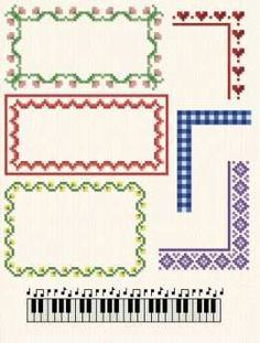MultiPurpose Borders - cross stitch pattern designed by Marv Schier. Category: Borders.
