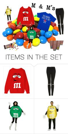"""""""M & M's"""" by rubymurray85 ❤ liked on Polyvore featuring art"""