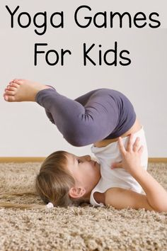 Yoga Games For Kids - Fun ideas for yoga games and yoga poses for kids! These kids yoga games are perfect for the classroom, therapy, or home! I love the spin on traditional games!