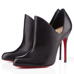 Best Christian Louboutin Dugueclina 100mm Ankle Boots Black Popular In The World