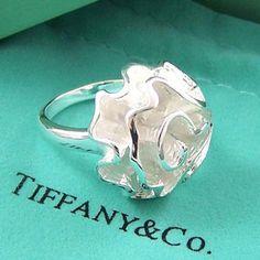Tiffany White Rose Ring