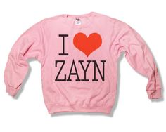 #onedirection #1D #1direction #NiallHoran #ZaynMalik #LiamPayne #HarryStyles #LouisTomlinson #IloveLiamPayne #ILoveHarryStyles #ILoveNiallHoran #ILoveZaynMalik #ILoveLouisTomlinson #onedirectionshirt #tshirt #tee #louis #harry #zayn #niall #liamOne Direction I Love Zayn Malik 018 Light Pink Sweatshirt x Crewneck x Jumper x Sweater - All Sizes Available. $25.00, via Etsy.