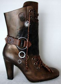 Steampunk boots - these boots are pretty badass, not just steampunk but for everyday wear.