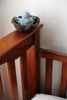 knitted bird and nest