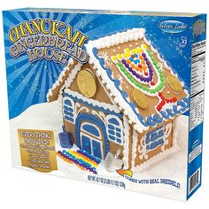 Spend time with friends and family while creating a great centerpiece for your Hanukkah celebrations with the Hanukkah Gingerbread House. The fully-equipped kit includes ready-made icing, pre-baked gingerbread pieces, and lots of candy to decorate with. Hanukkah Crafts, Hanukkah Decorations, Hannukah, How To Celebrate Hanukkah, Happy Hanukkah, Hanukkah 2019, Menorah, Kits For Kids, Crafts For Kids