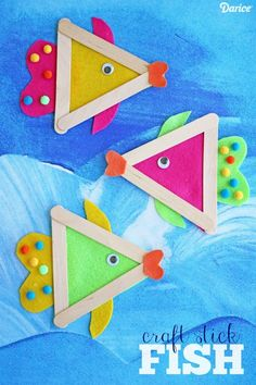 DIY Fish Craft with Felt and Craft Sticks - Darice