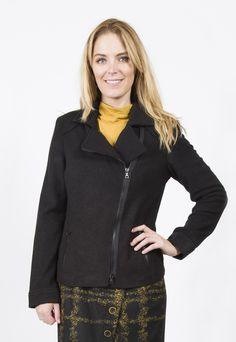 STEILMANN BOILED WOOL ZIP JACKET Winter Collection, Fashion Dresses, Wool, Zip, Jackets, Beautiful, Fashion Show Dresses, Down Jackets, Trendy Dresses
