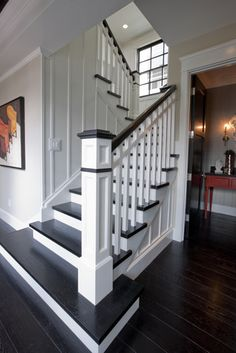 Stairs painted diy (Stairs ideas) Tags: How to Paint Stairs, Stairs painted art, painted stairs ideas, painted stairs ideas staircase makeover Stairs+painted+diy+staircase+makeover White Staircase, Stairs And Staircase, Staircase Remodel, Staircase Makeover, House Stairs, Staircase Design, Basement Stairs, Staircase Ideas, Black And White Stairs