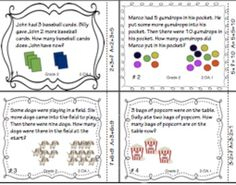 Math task cards 2.OA.1  This set of 28 self checking task cards focuses on CCSS 2.0A.1 (Problem Solving with Addition and Subtraction)The set can be used for whole class reviews, cooperative learning, centers, game show review, and extra practice.) ($1.50)