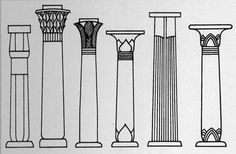 Decoration Ancient Egyptian Architecture Columns And Ancient ...