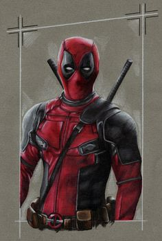 #Deadpool #Fan #Art. (Deadpool) By: LiubovKorotkova. (THE * 5 * STÅR * ÅWARD * OF: * AW YEAH, IT'S MAJOR ÅWESOMENESS!!!™) [THANK U 4 PINNING!!!<·><]<©>ÅÅÅ+(OB4E)    https://s-media-cache-ak0.pinimg.com/474x/14/ca/91/14ca913419298aae61e36da2e35f4884.jpg