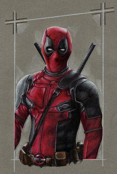 #Deadpool #Fan #Art. (Deadpool) By: LiubovKorotkova. (THE * 5 * STÅR * ÅWARD * OF * MAJOR ÅWESOMENESS!!!™)