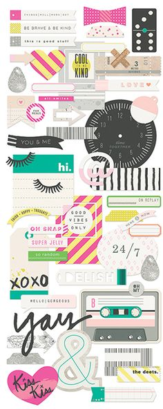 BasicGrey - B-Side Collection - Die Cut Cardstock Pieces