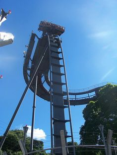 Roller Coaster: Oblivion at Alton Towers in Alton, England wow