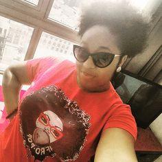 Afro Pop tee www.globalcouture.net Natural Hair Shirts, Natural Hair Styles, Shirt Hair, Afro, T Shirts For Women, Tees, Fashion, Moda, T Shirts