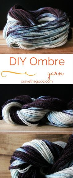 How To Dye Ombre/Gradient Yarn With Food Colouring. This easy tutorial walks you through the steps to create your own ombre yarn | cravethegood.com Diy Ombre Yarn, Shibori, Textiles, Tie Dye Tutorial, Fabric Dyeing Techniques, Pattern Weights, Fibre And Fabric, Spinning Yarn, How To Dye Fabric