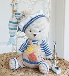 """Pattern """" Sailor Boys """" - Mix Pattern Outfits for small and big Bears by PolushkaBunny"""