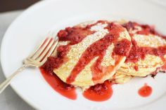 Sweet and Fluffy Raspberry Pancakes