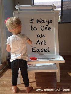 Great ideas to get the most use out of your kid's art easel, they are good for so much more than just art!