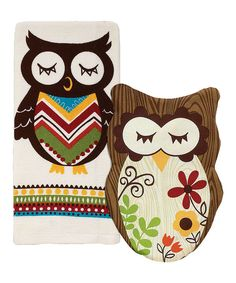 Take a look at this Ritz Sleepy Owl Pot Holder & Kitchen Towel Set on zulily today!