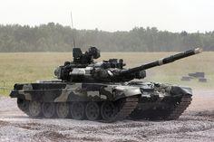 Char T-90, mise en décharge