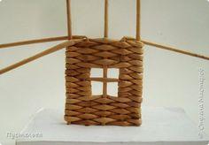 Мастер-класс Поделка изделие Плетение Домик и мельница Трубочки бумажные фото 9