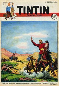 Le Journal de Tintin - Edition Belge - N°  107 - 1948-41 - Jeudi 7 Octobre 1948 - Couverture : Paul Cuvelier