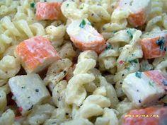 La meilleure recette de Salade de fusilli au surimi! L'essayer, c'est l'adopter! 5.0/5 (5 votes), 5 Commentaires. Ingrédients: 200 gr de pâte fusilli, mayonnaise maison, 8 batonnets de surimi, persil ciselé, 2 cuil à soupe d'huile de tournesol, sel et mélange de 5 baies