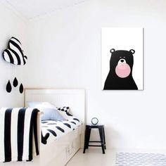 Tableau Ours Noir Et Blanc   Collection Enfant