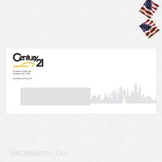 real estate envelopes, realtor envelopes, realtor window envelopes, envelopes, Century 21 envelopes