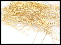 AEO12 -01 Alfiler con argolla para engarce chapeado en 14k, medida 3cm. ideal para Bisuteria fina, precio x gramo $2.80 pesos, precio medio mayoreo (100 gramos)$2.60, precio mayoreo (250 gramos)$2.40, precio VIP(500 gramos) $2.20