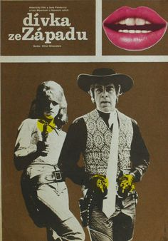 """Czech poster for """"Cat Ballou"""", 1960s, directed by Elliot Silverstein, with Jane Fonda."""