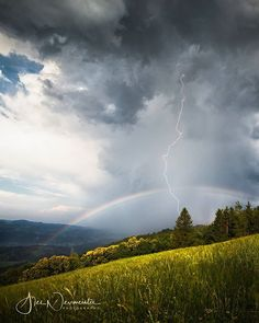 Last strike after the storm After The Storm, Europe Photos, Lightning Strikes, Life Photo, Austria, Places To Visit, Rainbow, Clouds, Travel