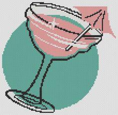 Retro MARGARITA PDF Cross Stitch Pattern