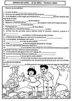 Projeto Leitura Teatro Na Escola Sitio Do Picapau Amarelo