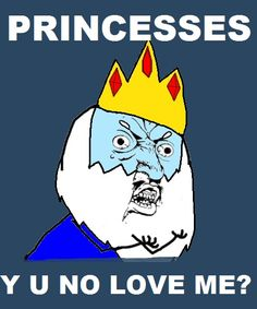 The readon why the iceking has an obsession of trying to marry many princesses is becasue he has a huge incompletence of losing betty.
