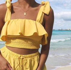 Ciervo top & La Palma shorts from my collection 🍋🍋 I wear this top with the matching shorts but also with high waisted pants & midi skirts. x linked in my bio! Fashion Advice, Fashion Outfits, Womens Fashion, Fashion Clothes, Girl Fashion, Summer Outfits, Cute Outfits, Sabo Skirt, Fall Fashion Trends