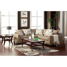 Lleida 2-Piece Sectional in Beige | Nebraska Furniture Mart