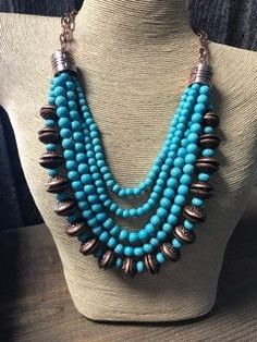 Shop Online with FREE SHIPPING!!! Don't miss this Copper/Turquoise ...! Find it here! http://www.hilltopboutique.com/products/copper-turquoise-beaded-multi-strand-necklace?utm_campaign=social_autopilot&utm_source=pin&utm_medium=pin