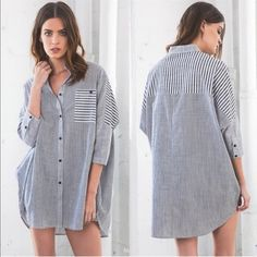 SOLD - BUNDLE for Julie 1. ADELYN Oversized Plaid Button-Up Top BLACK size M/L  2. SOMERLYN long sleeve top w pockets - IVORY size L Tops Blouses