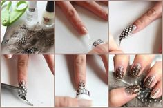 Tip: Easy and glamorous nails :)  Original link: http://baryys.blog.cz/1211/nadherne-nehty