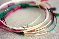 Pourcentage rabais disponible / nouvelle Version Lucia Bracelet / Bracelet de l'amitié / Emerald fil Bracelet d'or