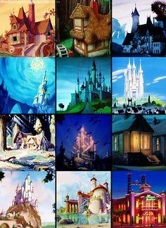 Disney Homes collage :) make into coasters? Disney Home, Disney Dream, Cute Disney, Disney Girls, Disney Movies, Disney Pixar, Walt Disney, Disney Stuff, Disney Princess Castle