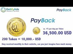 GetMyAds - The leading payback network Social Networks, Social Media, Earn Money From Home, Online Marketing, Business, Day, Things To Sell, English, Sign