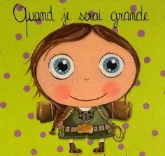 de Isabelle Kessedjian Tooth Fairy, Cartoon Kids, Art Plastique, Cute Illustration, Portrait Art, Belle Photo, Illustrations Posters, Cute Girls, Craft Projects