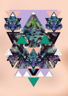 Geometric dreamy kaleidoscopic illustrations by Vasare Nar, via Behance Geometric Graphic, Graphic Art, Nail Art Photos, Textile Design, Art Forms, Alice In Wonderland, Mystic, Print Patterns, Sculptures