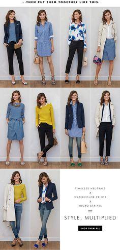 Women's Apparel: 10 pieces, 10 outfits   Banana Republic